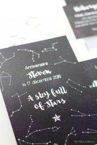 A Sky full of Stars, faire-part, anniverasire, mariage, étoile, constellation, lune, ciel, météorologie, stars, nuit, spiritus naturae copy