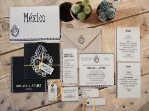 Faire-part mexicain 1, corazon, retro, espagnol, spiritus naturae