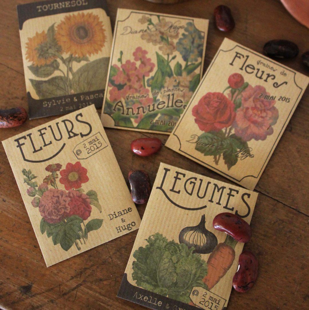 sachets de graines cadeaux d invit s mariage spiritus naturae. Black Bedroom Furniture Sets. Home Design Ideas