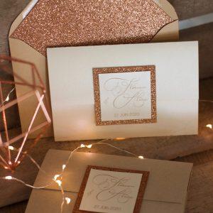 faire-part-paillette-cuivre-papier-kraft-irisé-chic-élégant-invitation-mariage-spiritus-naturae-1