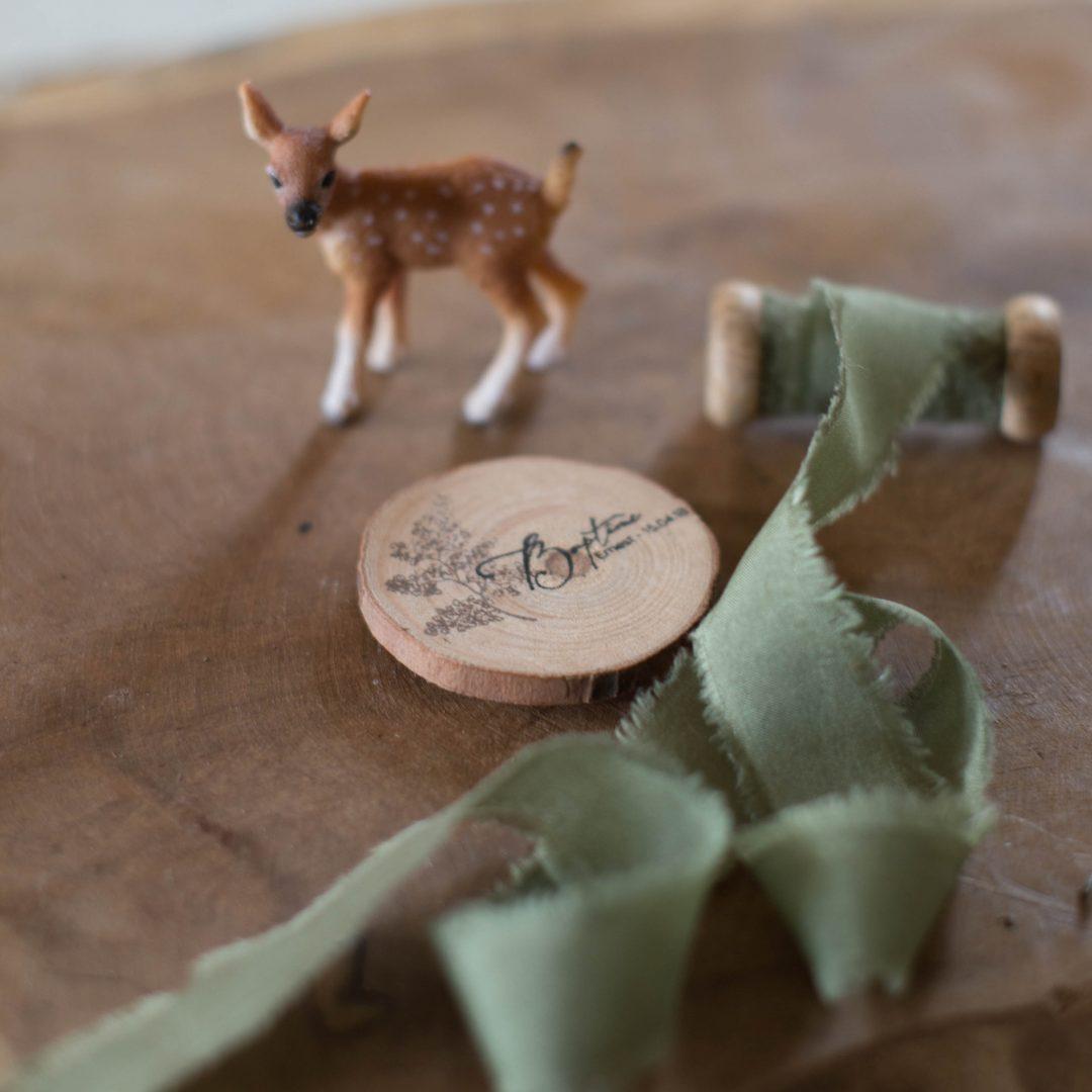 Invitation baptême, nature fougère, papier chiffon, embossage, spiritus naturae-10