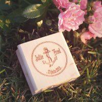 Tampon, bois, ancre, marine, sea, mer, ocean, mariage, wedding, wood, stamp, spiritus naturae