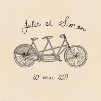 Tampon, tandem, vélo, rétro, vintage, spiritus-naturae